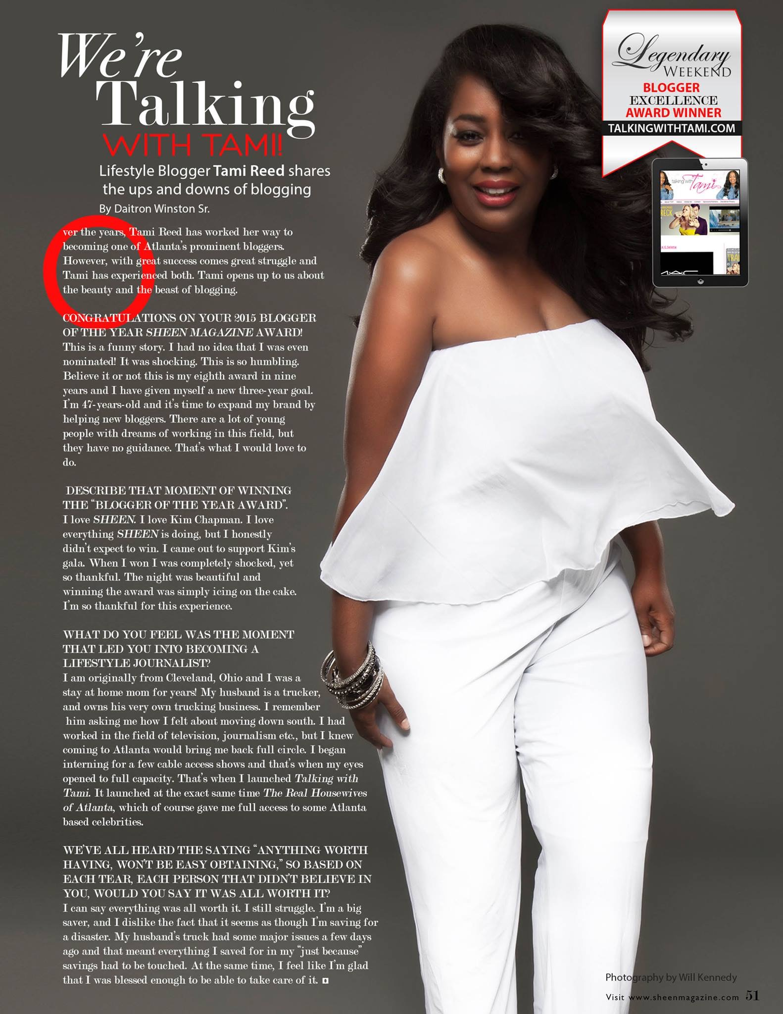 Great News: Talking With Tami Featured In Sheen Magazine!