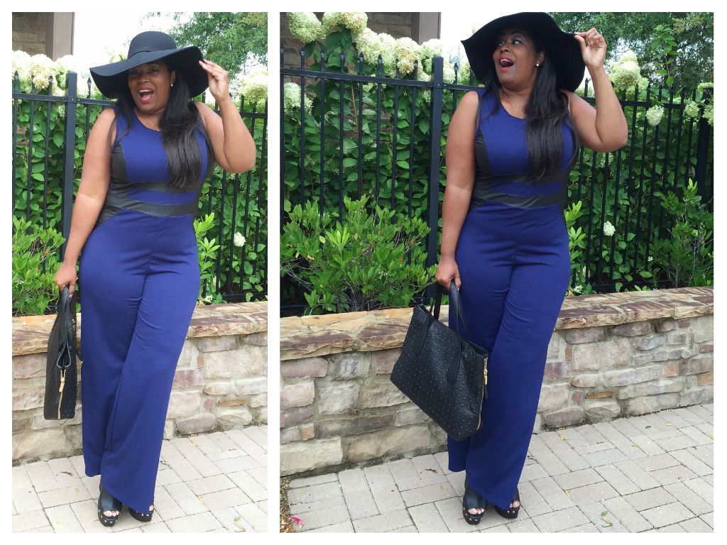 My Style: Fashion To Figure Techno Crepe Jumpsuit