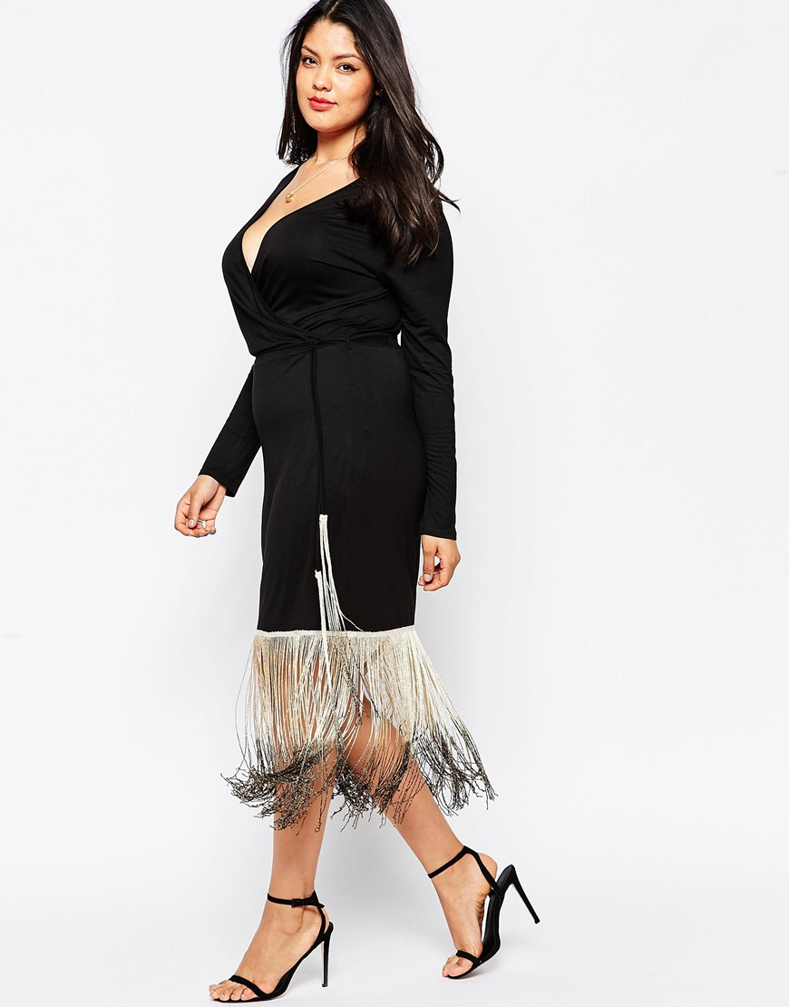 Currently Obsessed With: Asos Club L Fringed Hem Midi-Dress