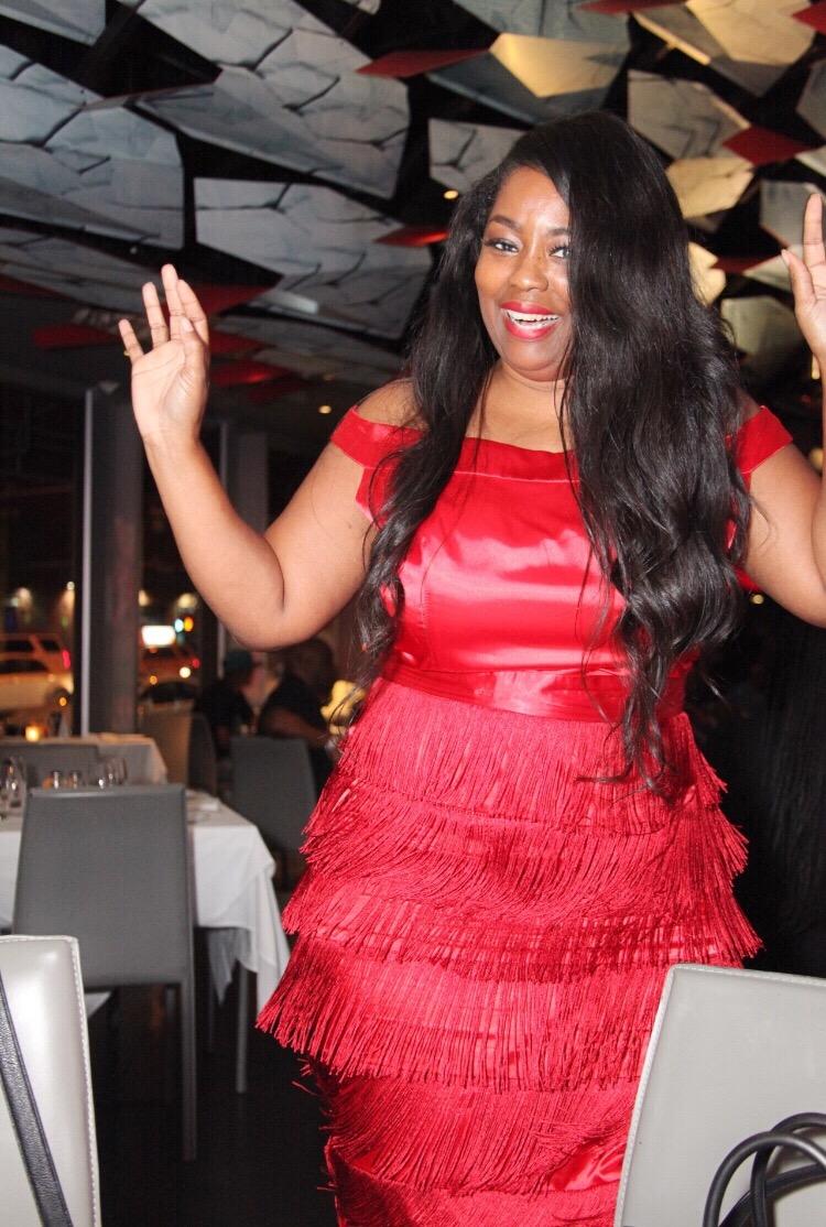 My Style: Red Fringe Gatsby Dress