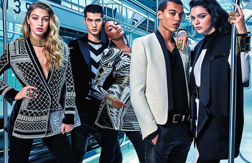 Balmain X H&M Ad Campaign