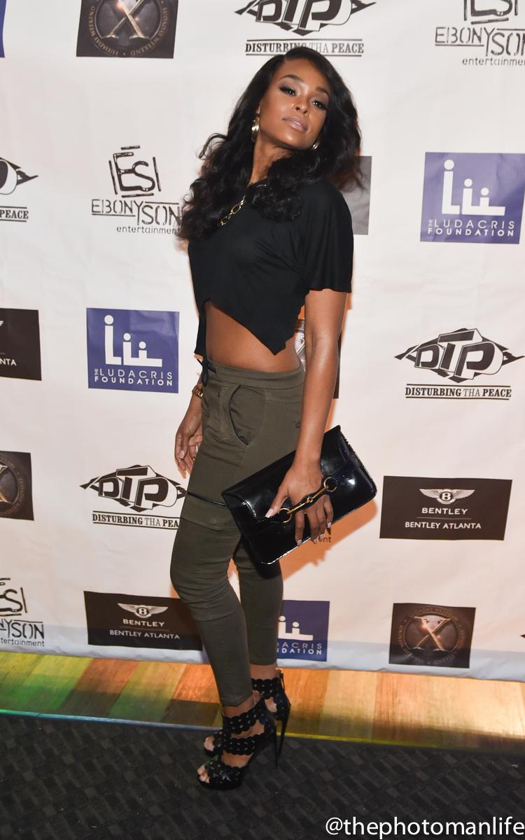 Wardrobe Breakdown: Demetria McKinney At Ludacris Celebrity Bowling Party