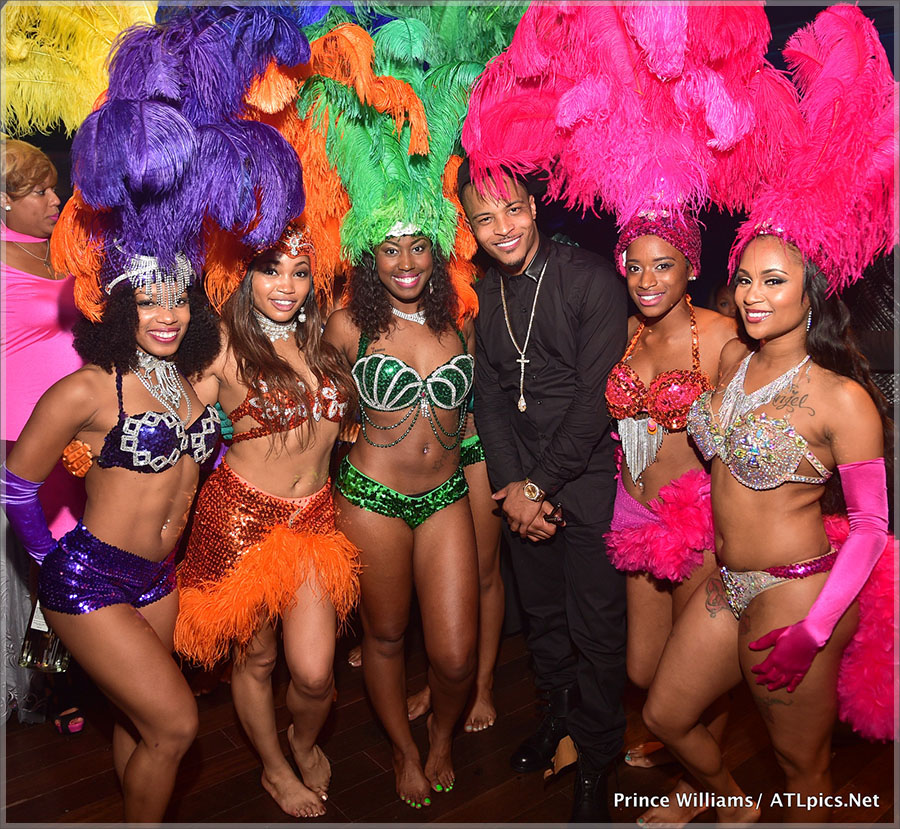 Rapper T.I. Throws Carnivale Style Birthday Bash At Scales 925!