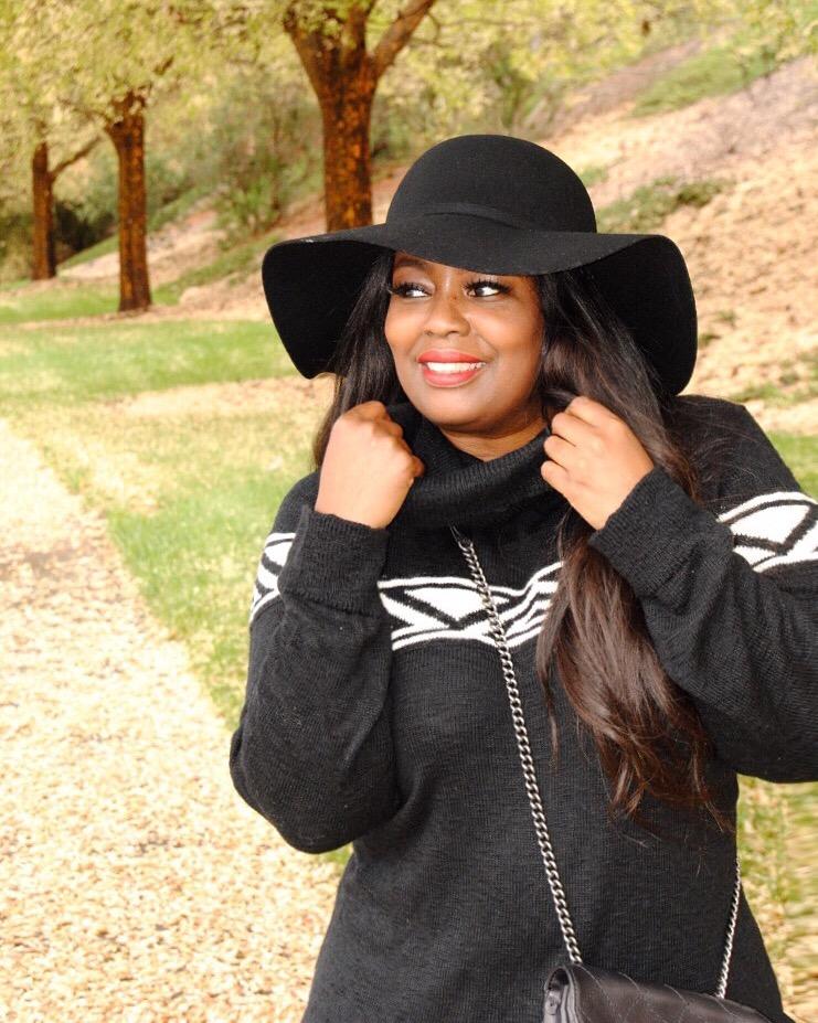 My Style: Fall Cowl Neck Sweater Dress