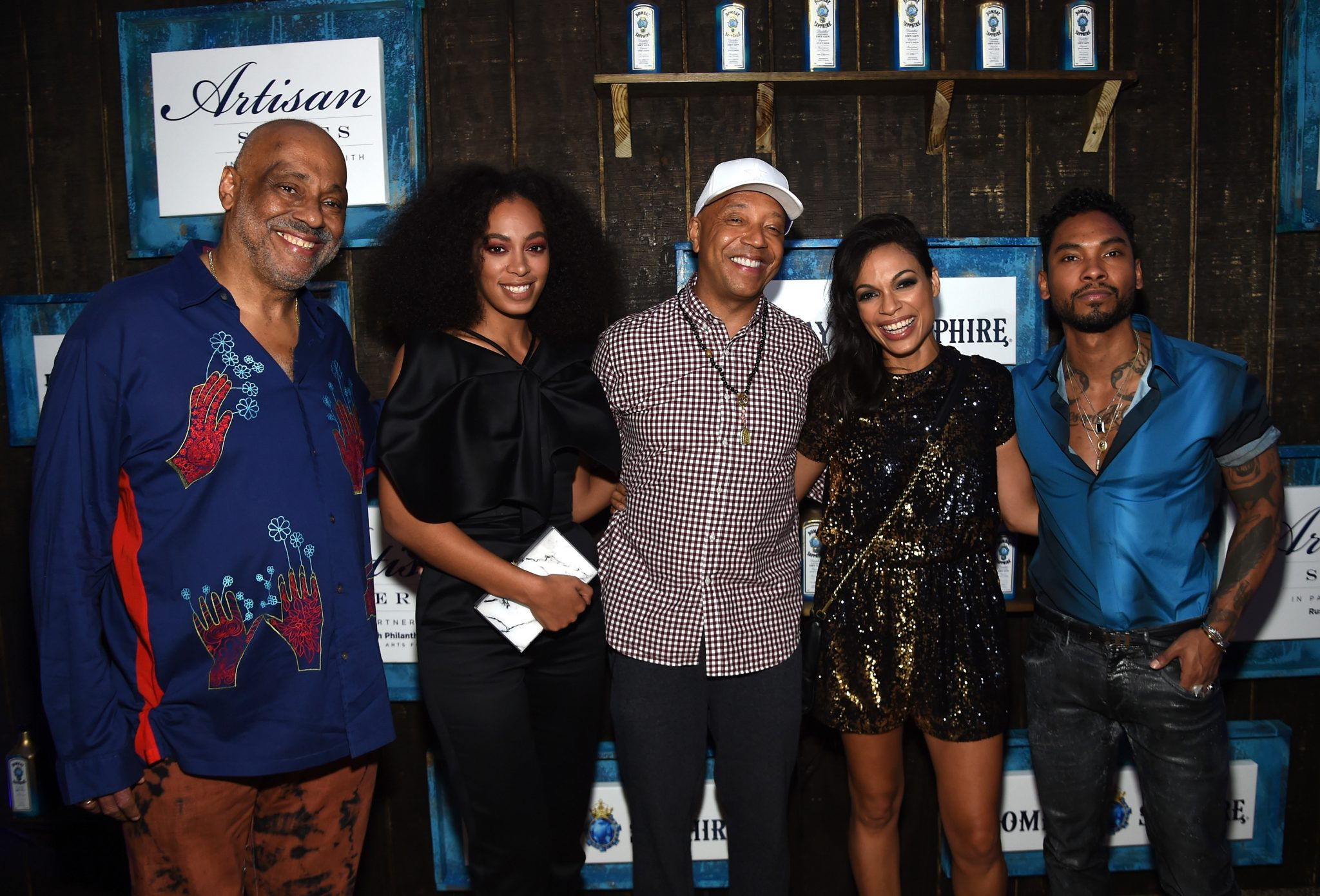 6th Annual Bombay Sapphire Artisan Series Hosted by Russell & Danny Simmons With Rosario Dawson