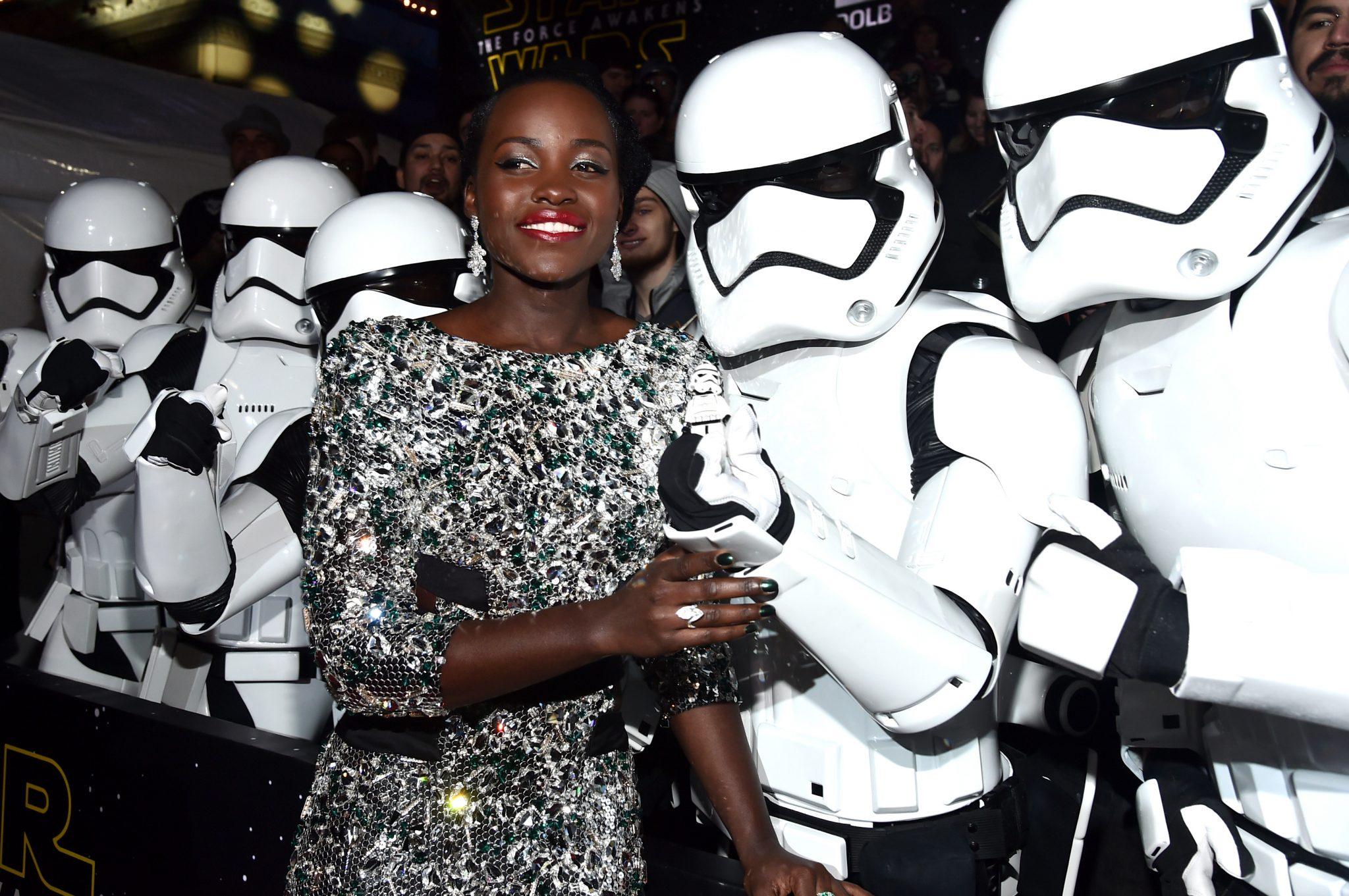 Wardrobe Breakdown: Lupita Nyong'o At Star Wars: The Force Awakens Premiere