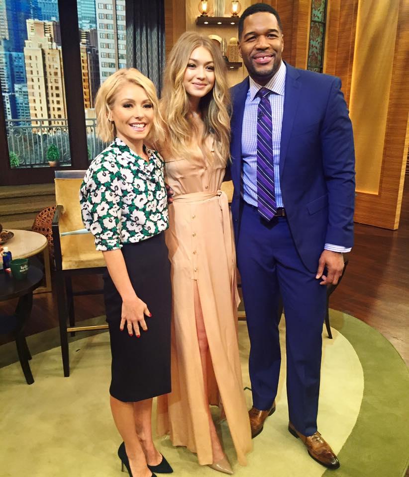 Wardrobe Breakdown: Gigi Hadid On 'Live with Kelly and Michael'
