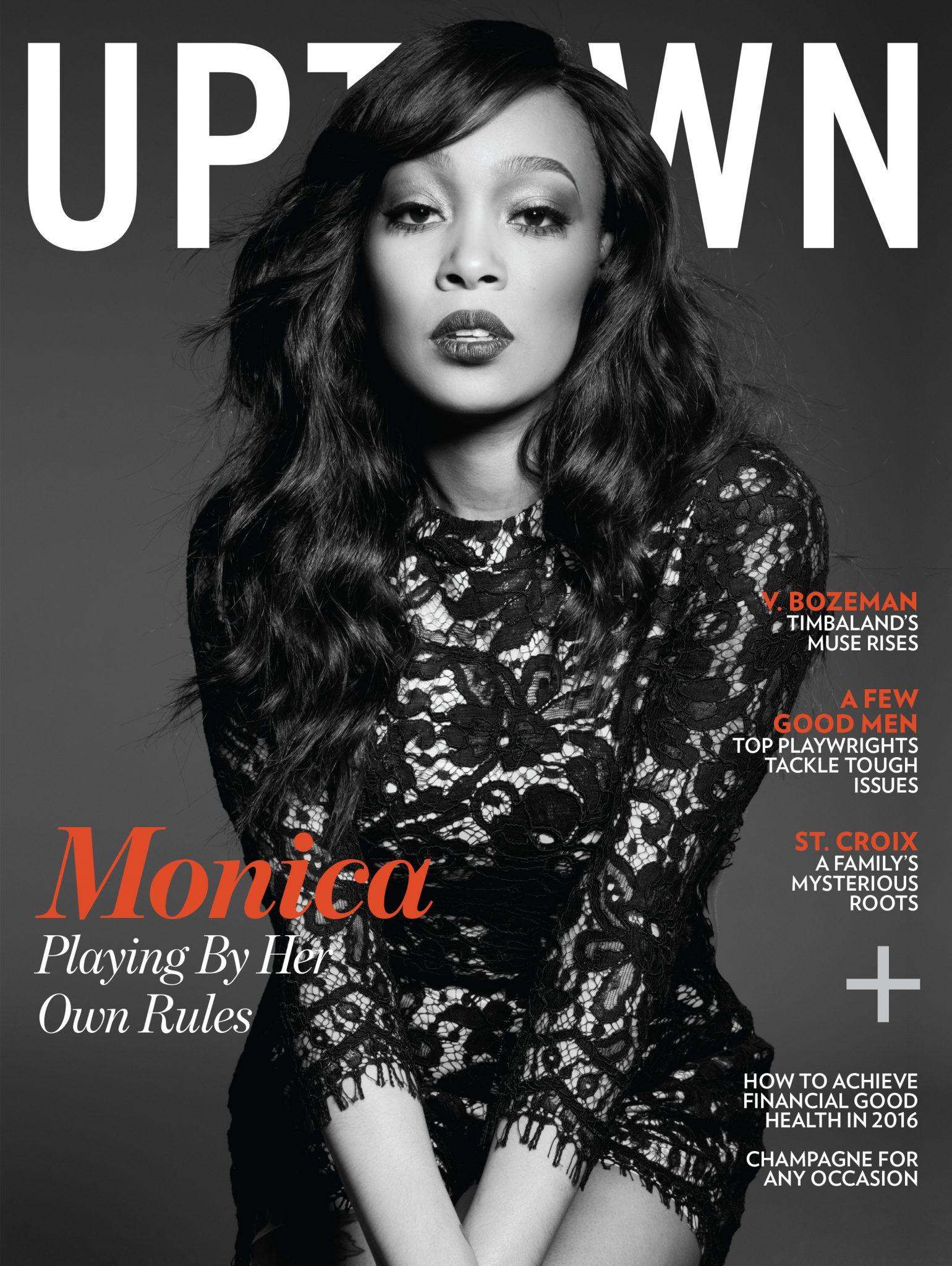 Monica For 'Uptown' Magazine