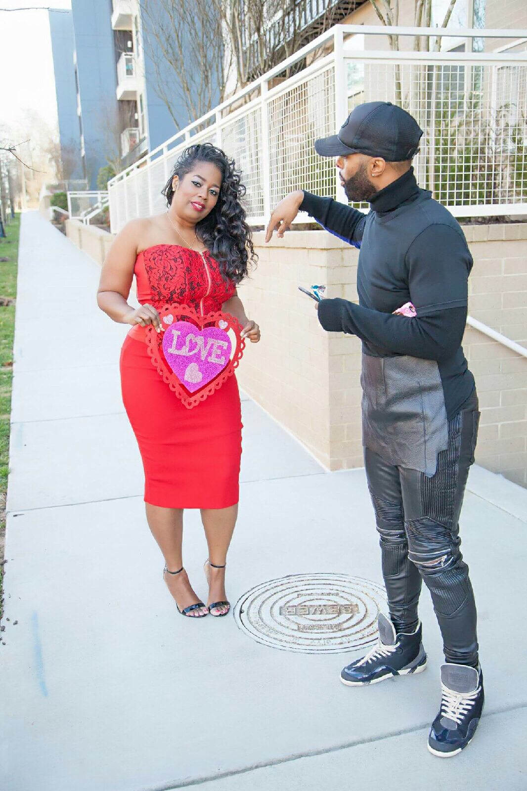 Behind-The-Scenes Valentine's Day Photoshoot For 'Fashion To Figure' Blog Giveaway