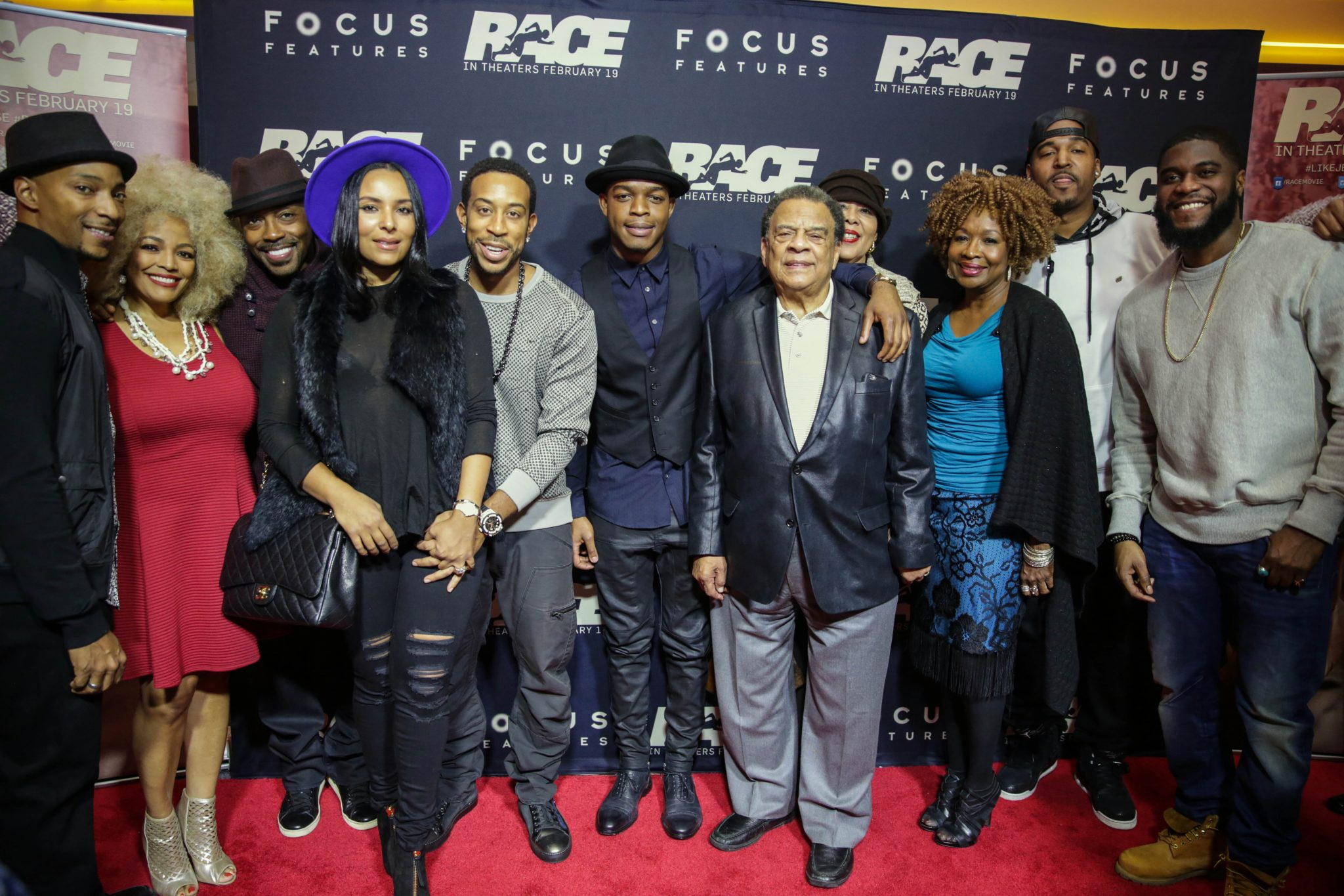 Celebrities Come Out To 'RACE' Premiere in Atlanta