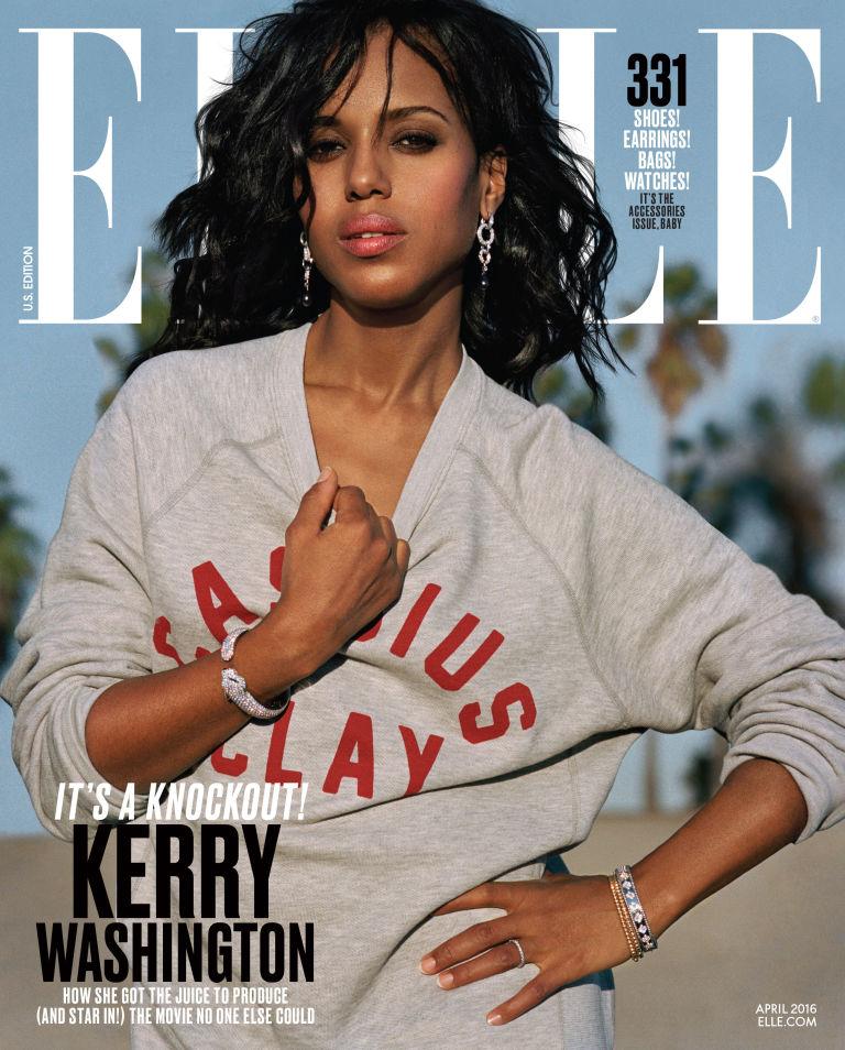 Kerry Washington For 'Elle' Magazine