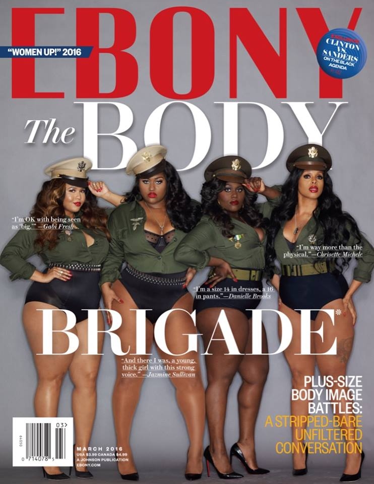 Gabi Fresh, Jazmine Sullivan, Chrisette Michele & Danielle Brooks For Ebony