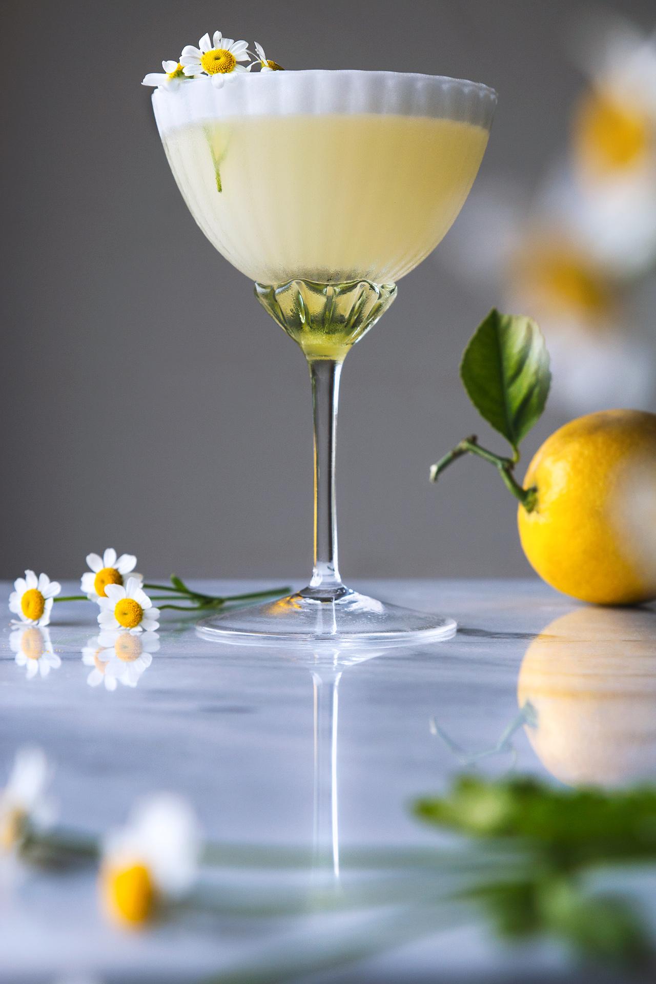 Lemon Chamomile Spring Cocktail