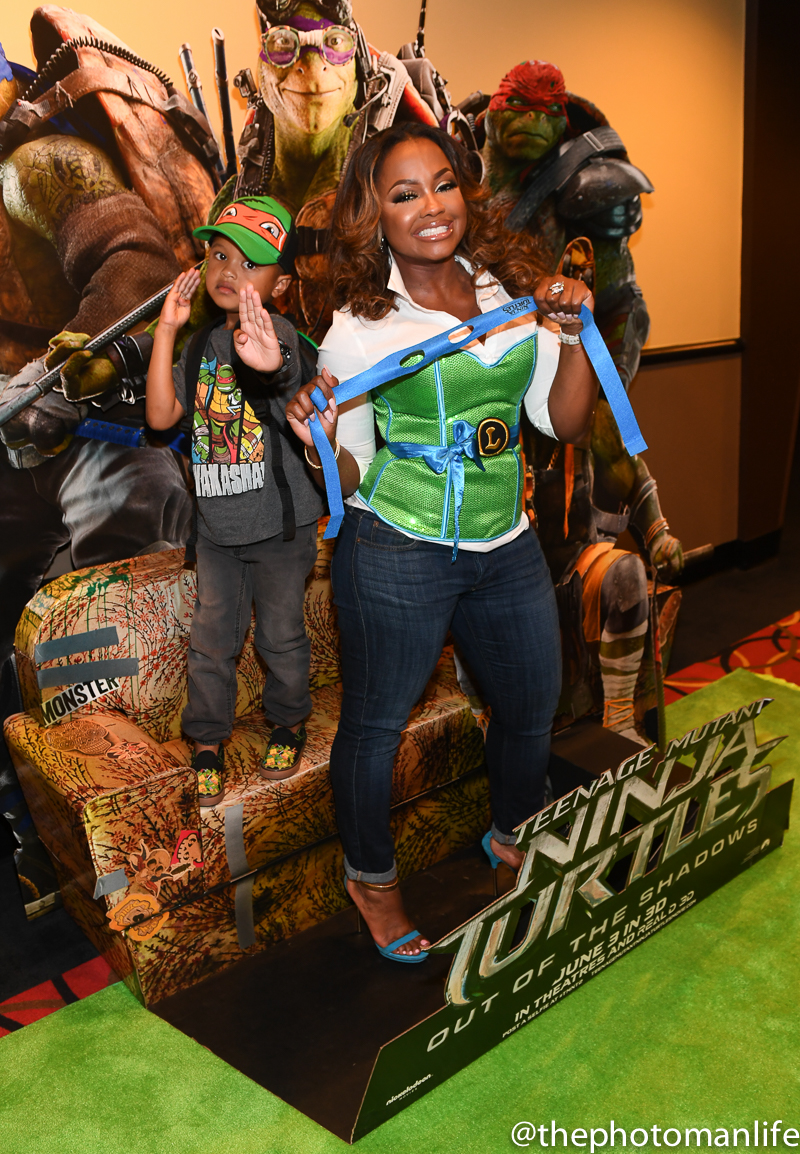 Phaedra Parks And Son Ayden Hosts 'Teenage Mutant Turtles: Out Of The Shadows' Private Screening