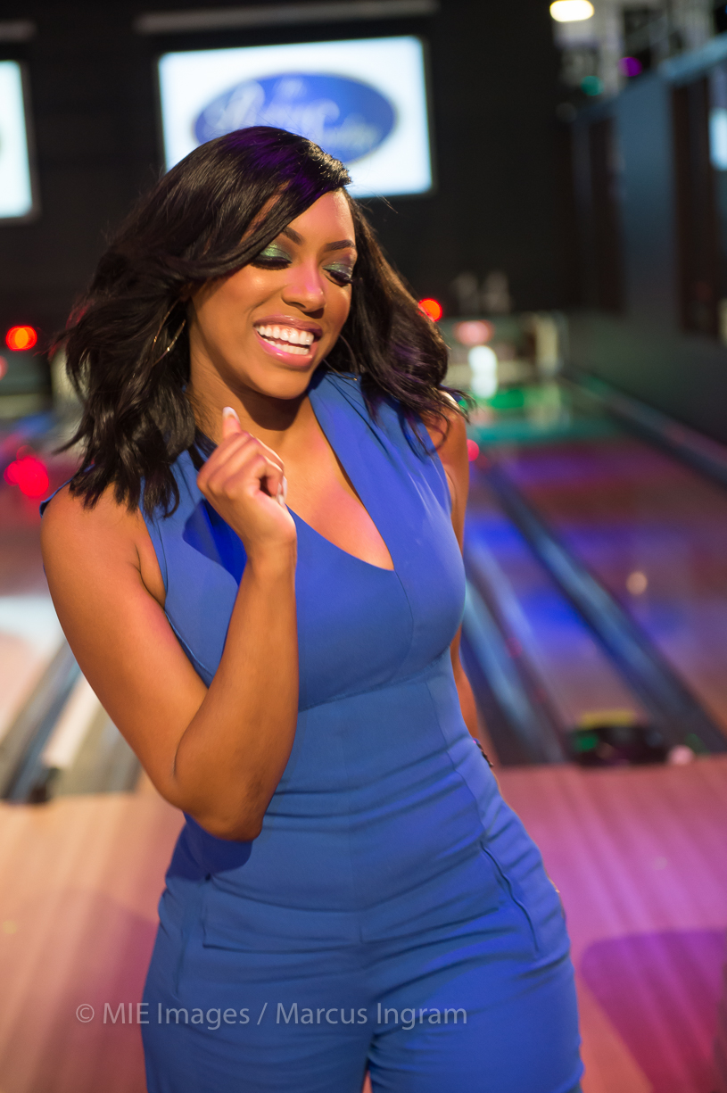 Porsha D. Williams Spotted At A Celebrity Bowling Tournament