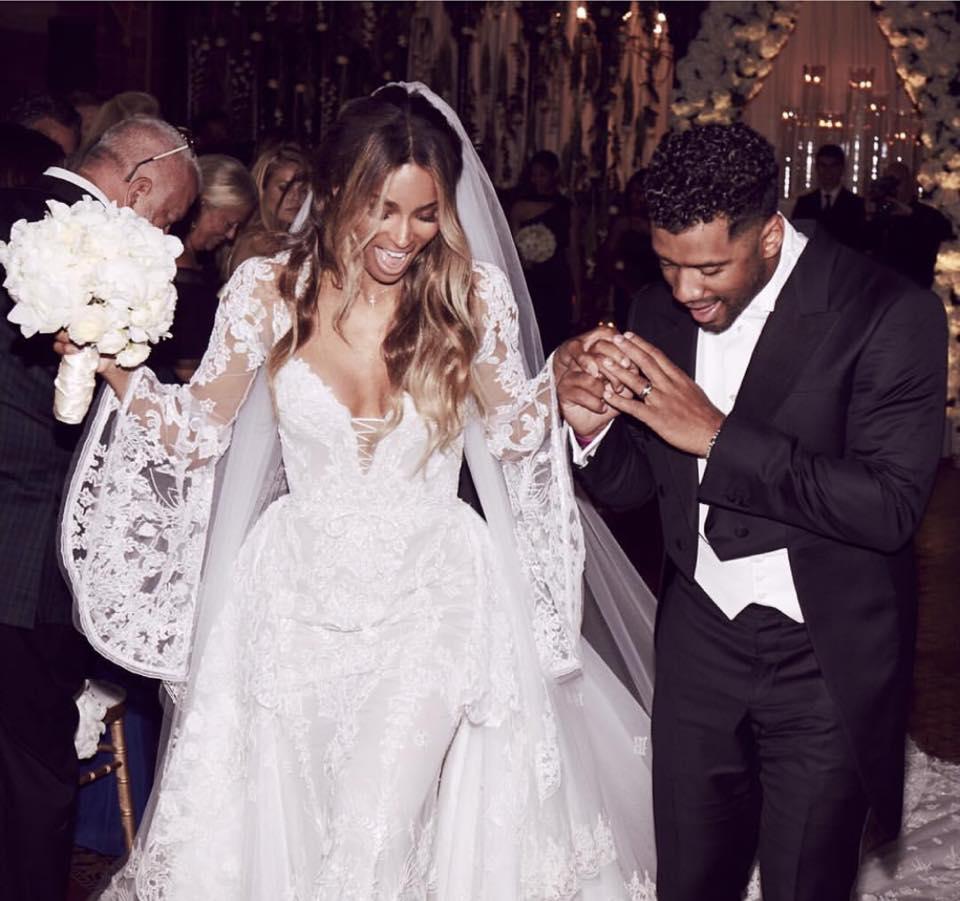 Wardrobe Breakdown: Ciara On Her Wedding Day!