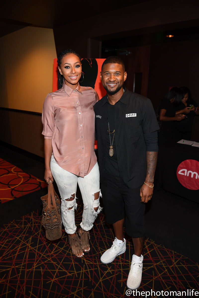 Usher & Keri Hilson Spotted At 'Hands Of Stone' Private Screening In ATL