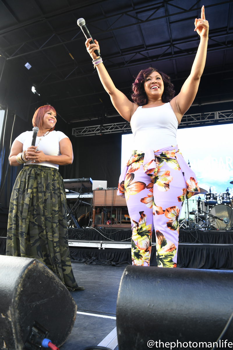 Mary Mary Spotted At 'Praise In The Park' In Atlanta