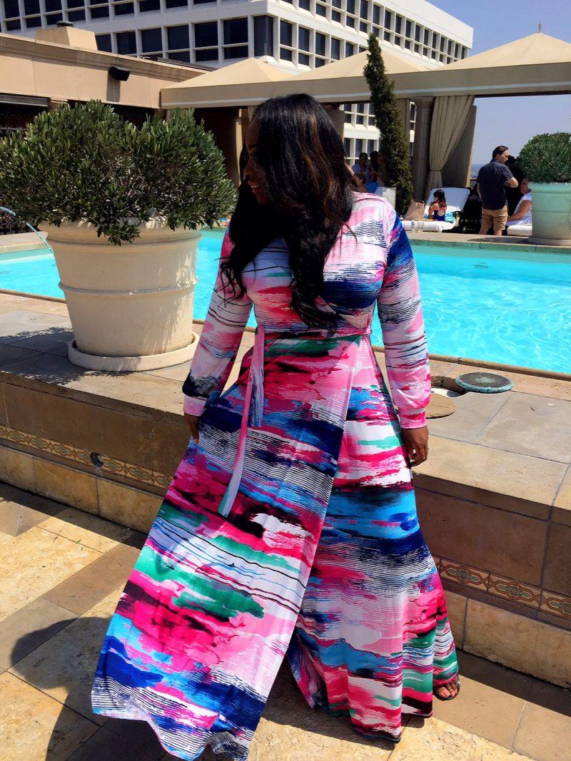 My Style: Tie Long Maxi Dress