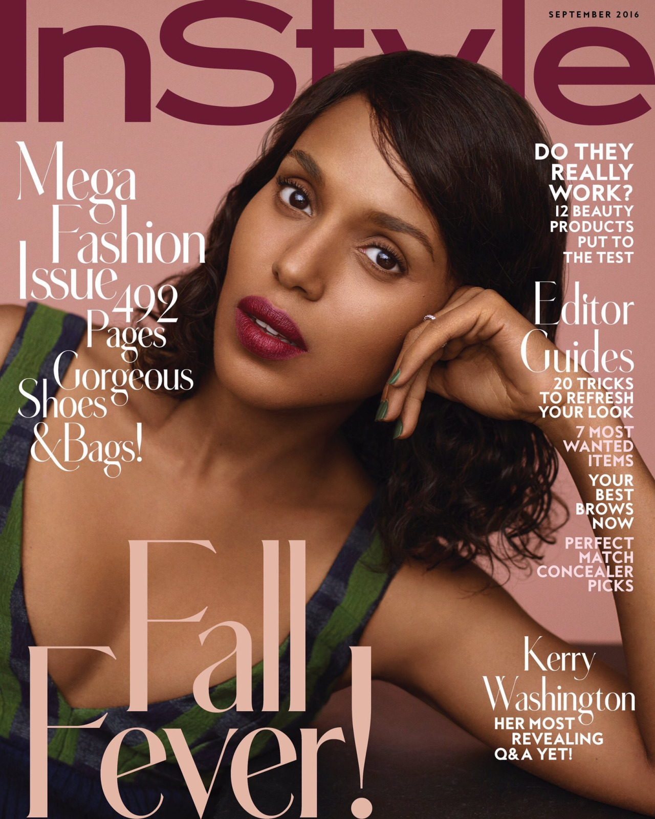 Get The Look: Kerry Washington's OPI Manicure For 'InStyle'
