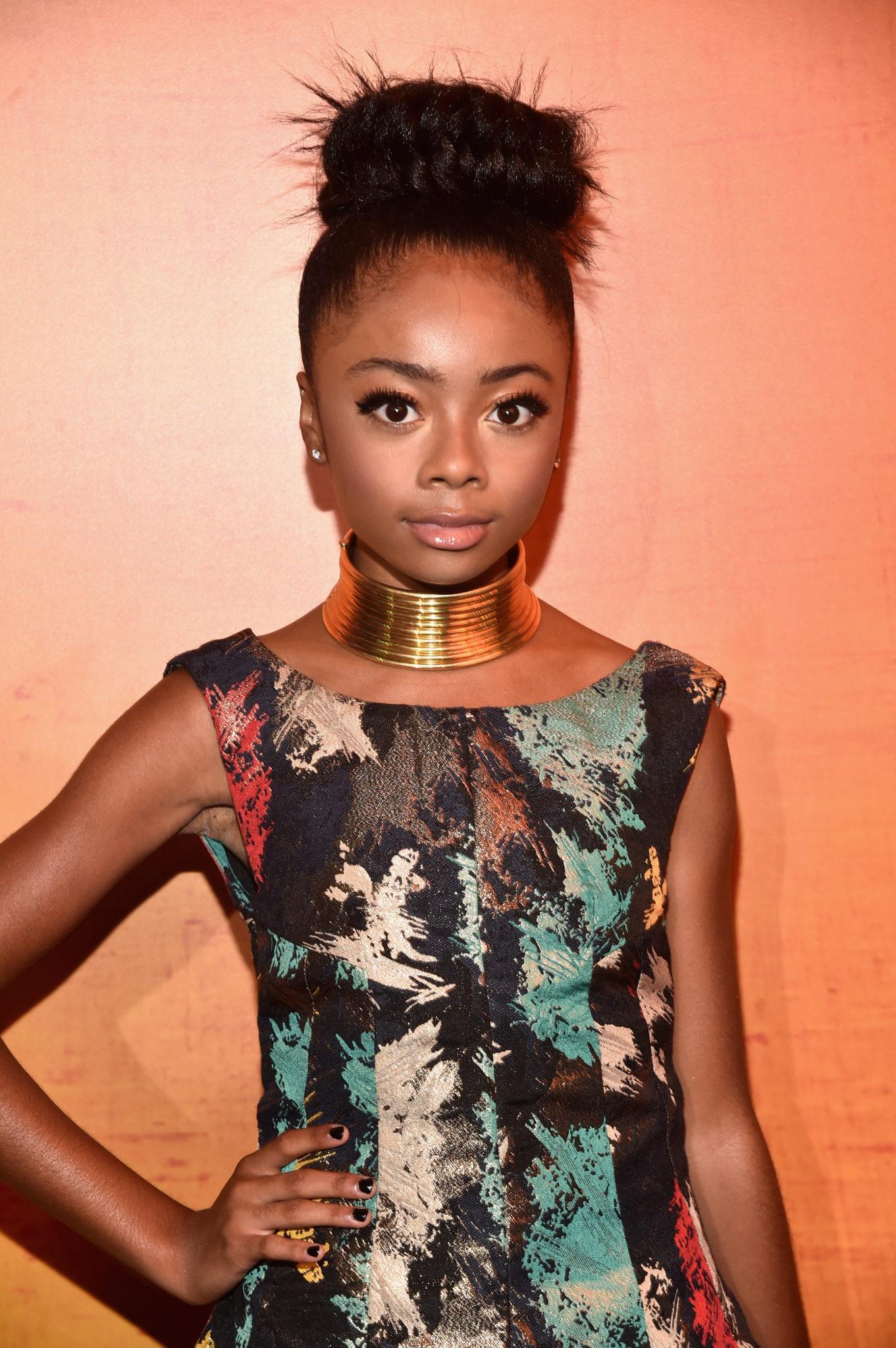 Wardrobe Breakdown: Skai Jackson At 'Queen Of Katwe' Hollywood Premiere