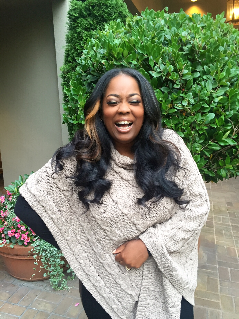 My Style: Chunky Cable Poncho