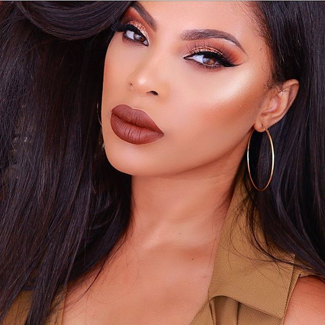 Get The Look: Ms Rosh Posh Brown & Copper Glitter Fall Makeup