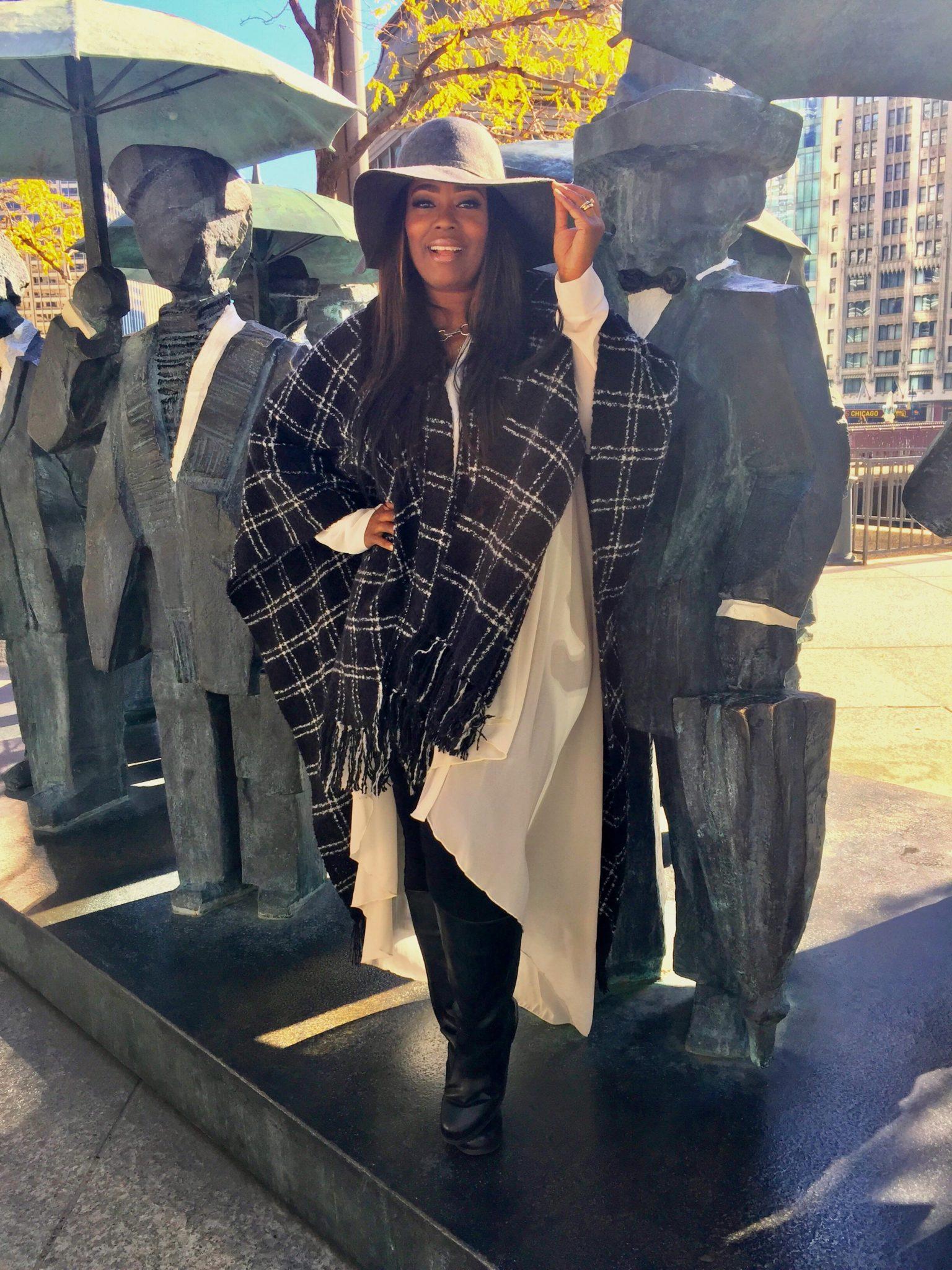 My Style: Plaid Hooded Kimono