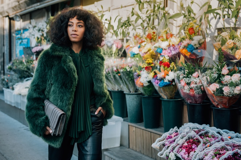 Solange Knowles For Michael Kors Street Style Fall 2016 Campaign
