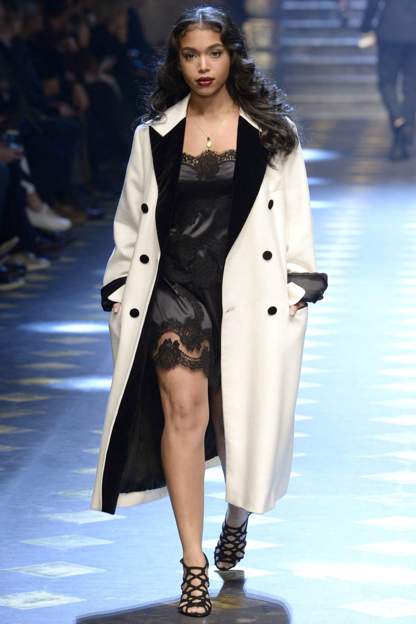 Lori Harvey, Diggy Simmons Model For Dolce & Gabbana Fall 2017 Show