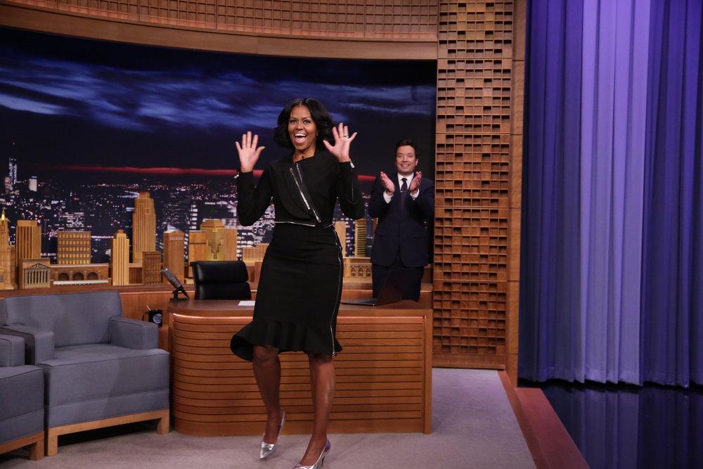 Wardrobe Breakdown: Michelle Obama On The Tonight Show Starring Jimmy Fallon