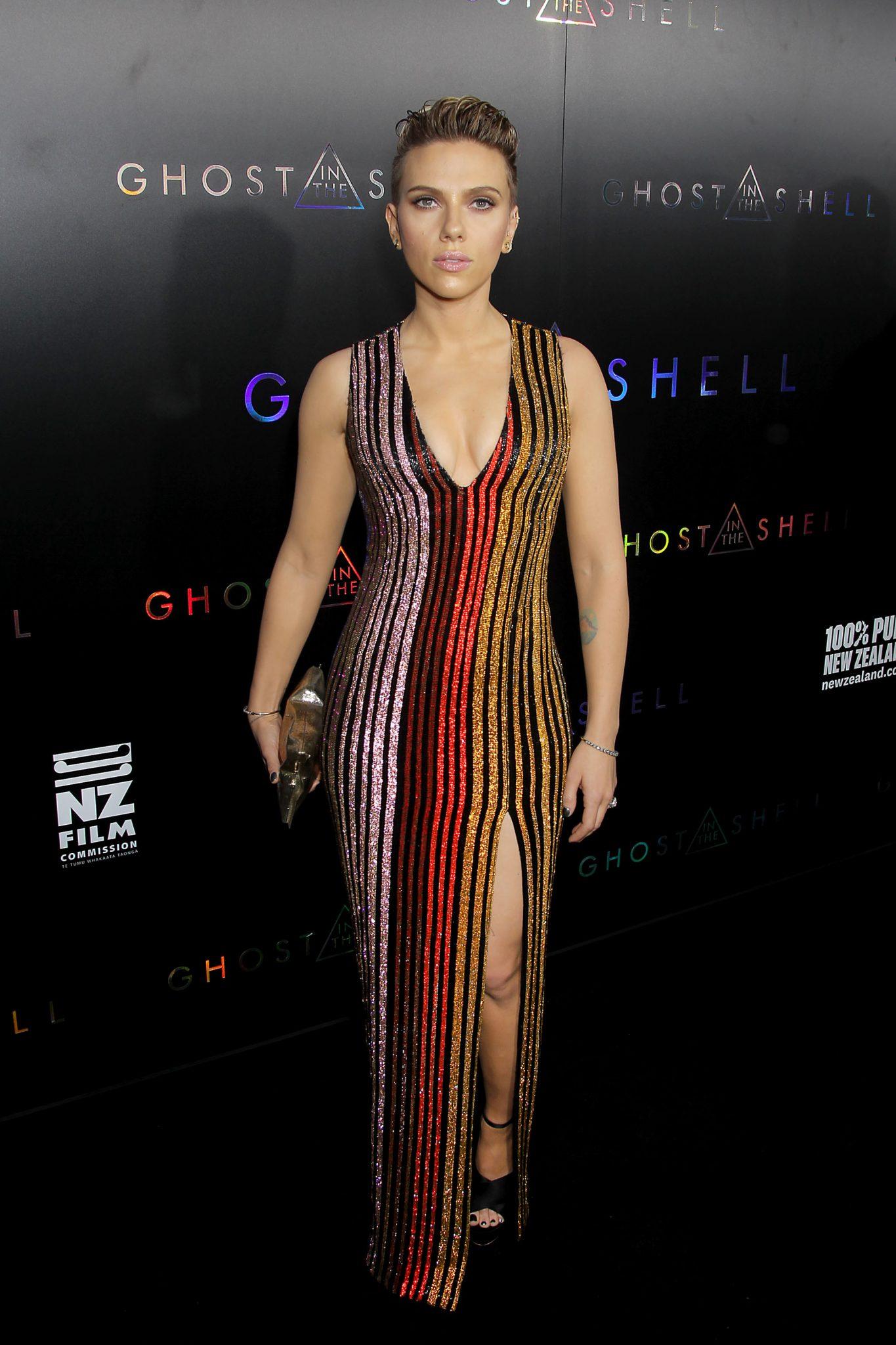 Wardrobe Breakdown: Scarlett Johansson At Ghost In The Shell Premiere In NYC