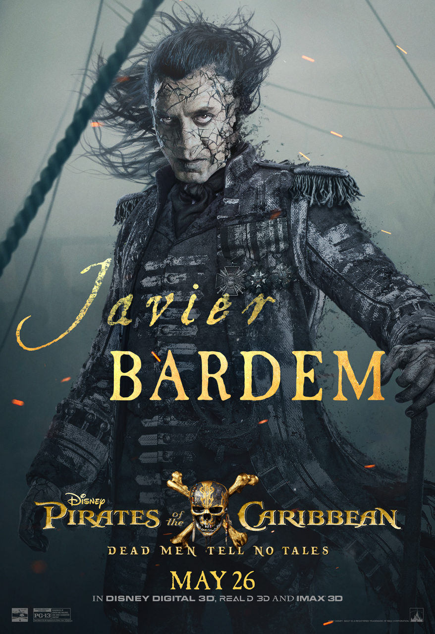 One On One With Javier Bardem (Captain Salazar) Pirates Of The Caribbean Dead Men Tell No Tales
