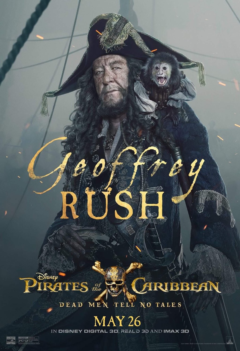 One On One With Geoffrey Rush (Hector Barbossa) Pirates Of The Caribbean Dead Men Tell No Tales