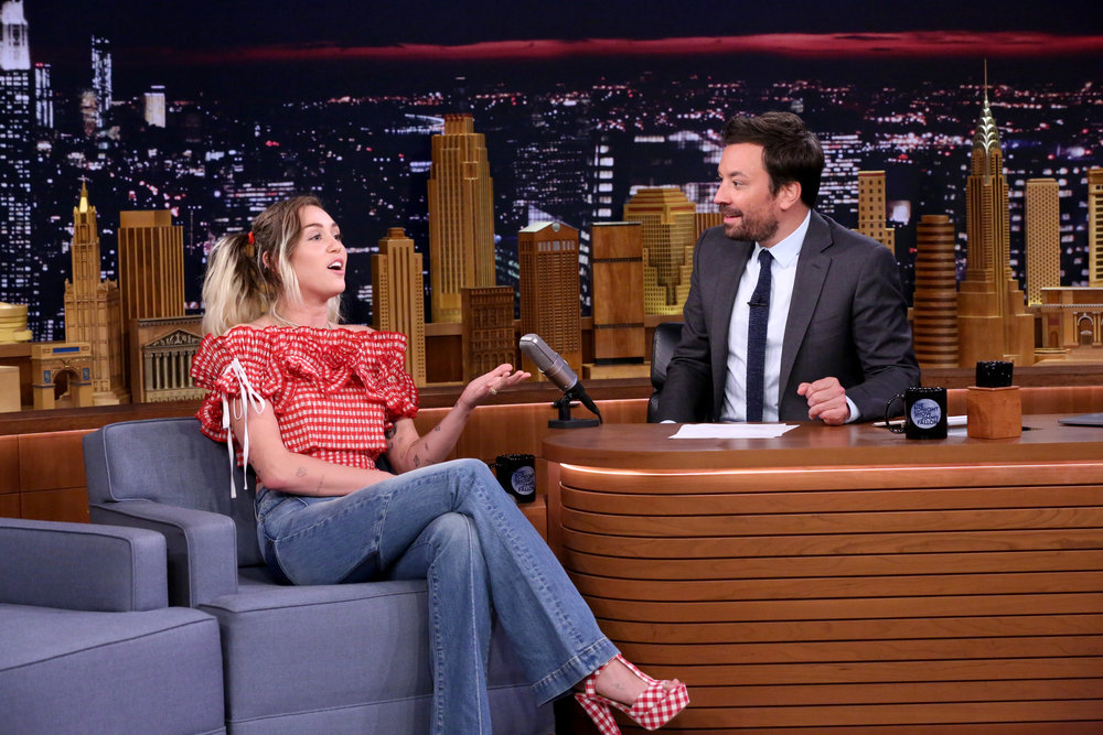 In Case You Missed It: Miley Cyrus On The Tonight Show Starring Jimmy Fallon