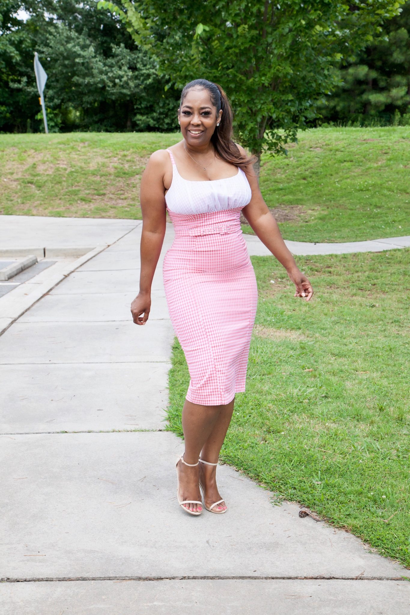 My Style: Pinup Couture Evangeline Pink Gingham Dress