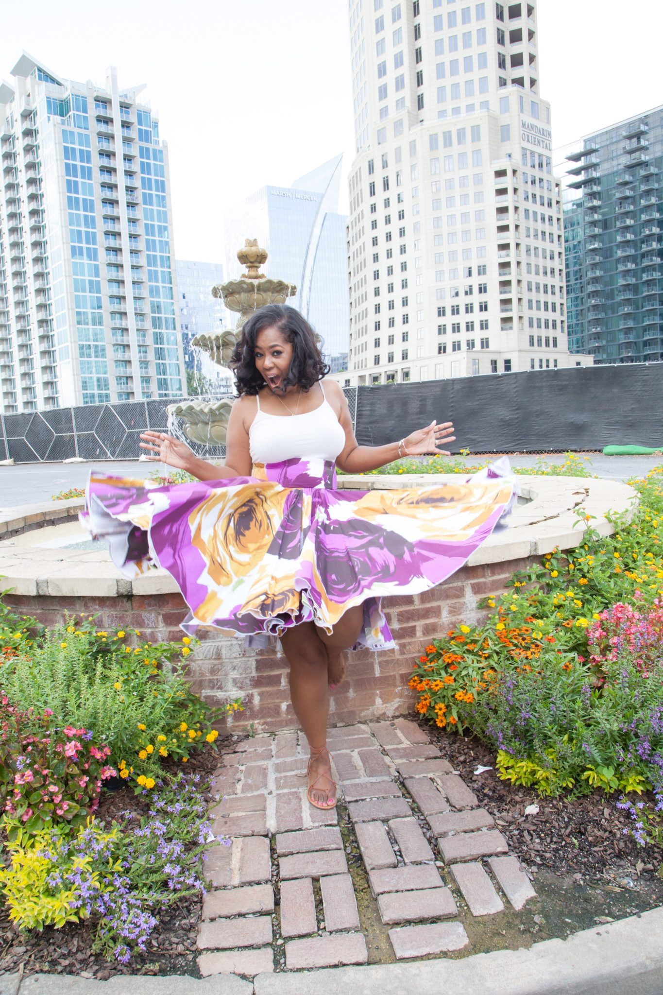 My Style: Floral Print Ball Skirt