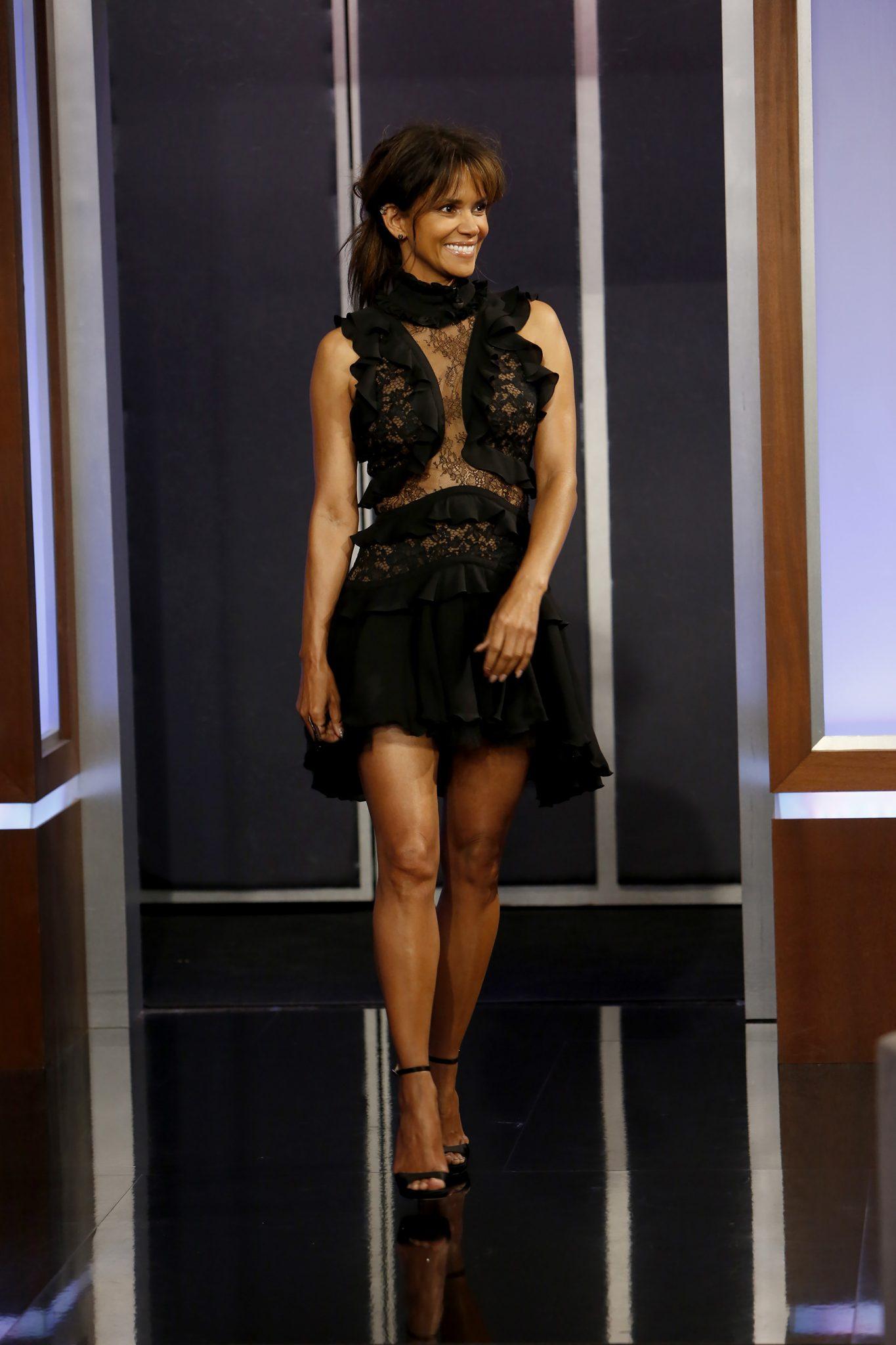 Wardrobe Breakdown: Halle Berry On Jimmy Kimmel Live