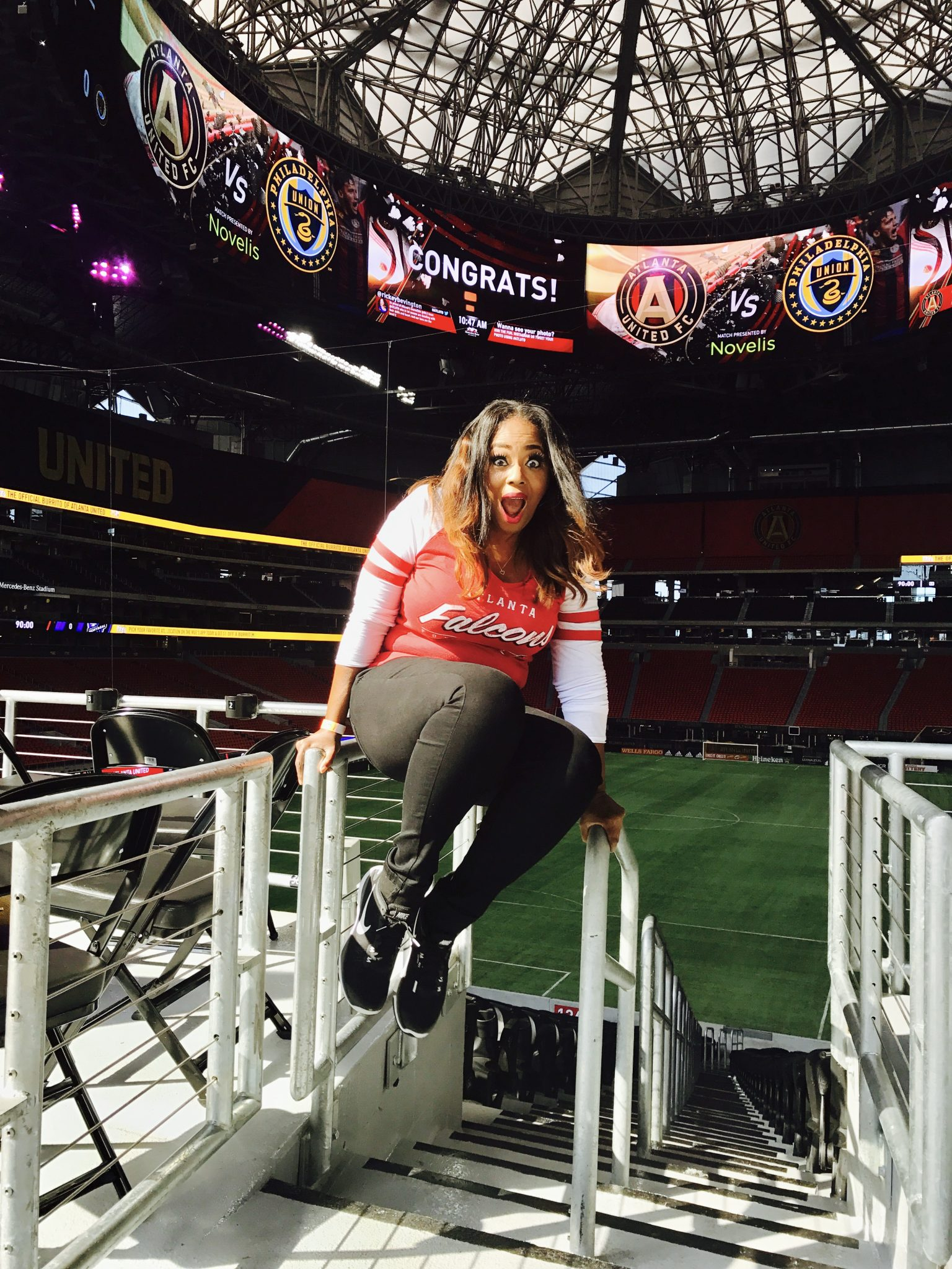 My Private Tour & Dining Experience At The All-New Mercedes-Benz Stadium!