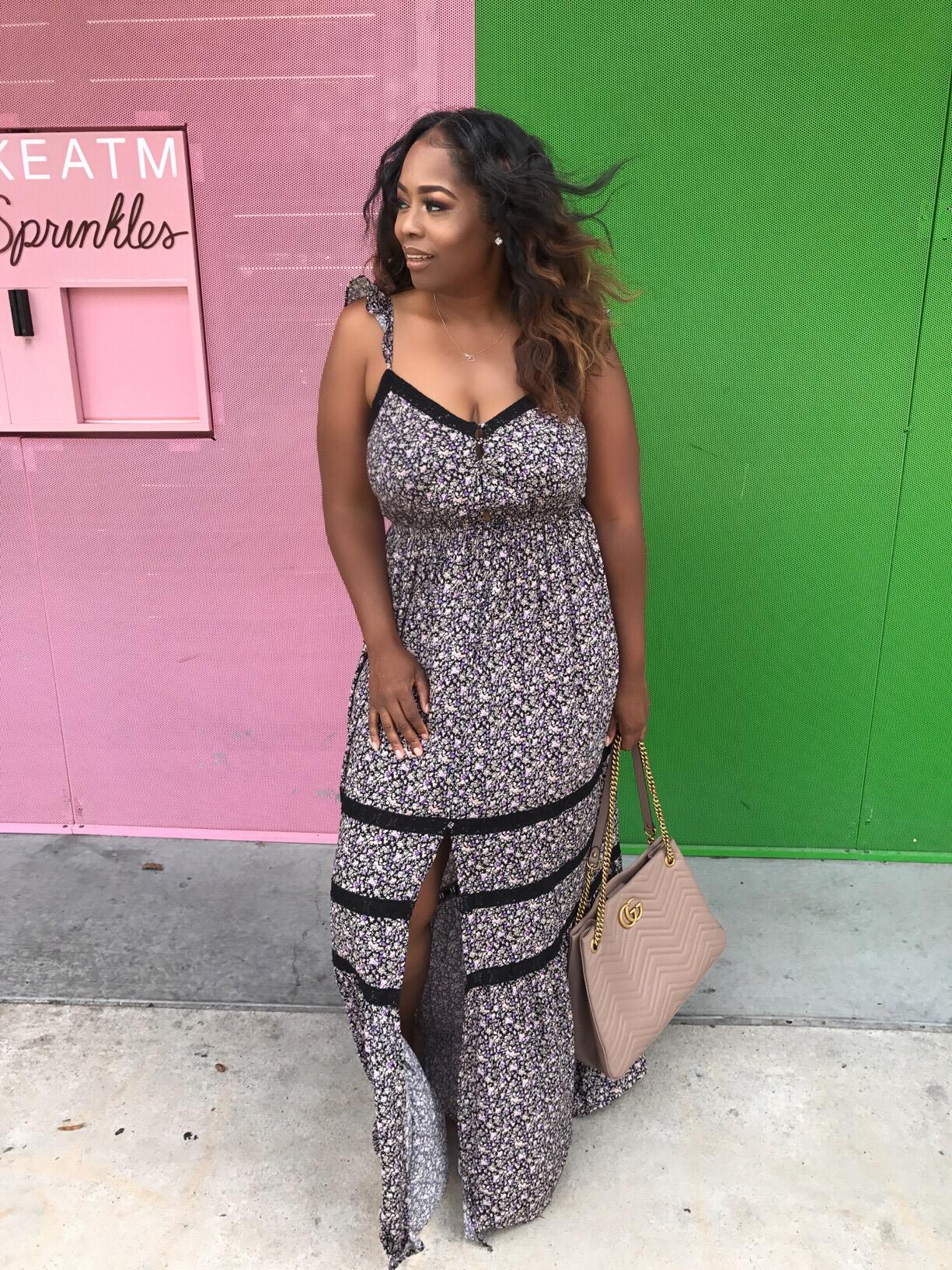 My Style: Floral Print Maxi Dress