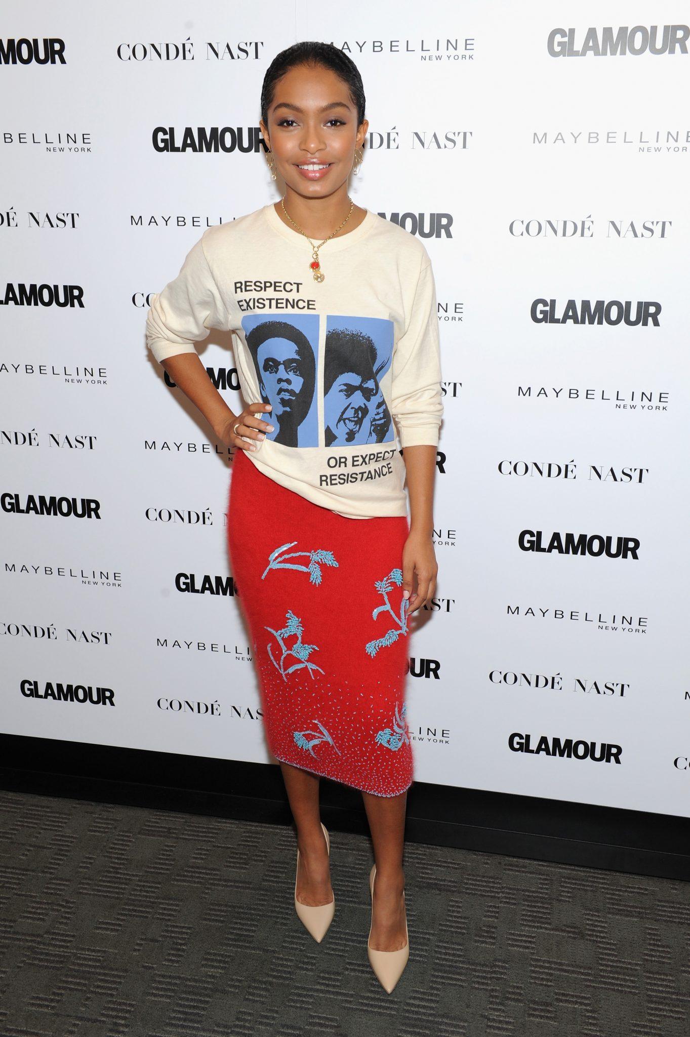 Wardrobe Breakdown: Yara Shadidi At Glamour's The Girl Project In NYC