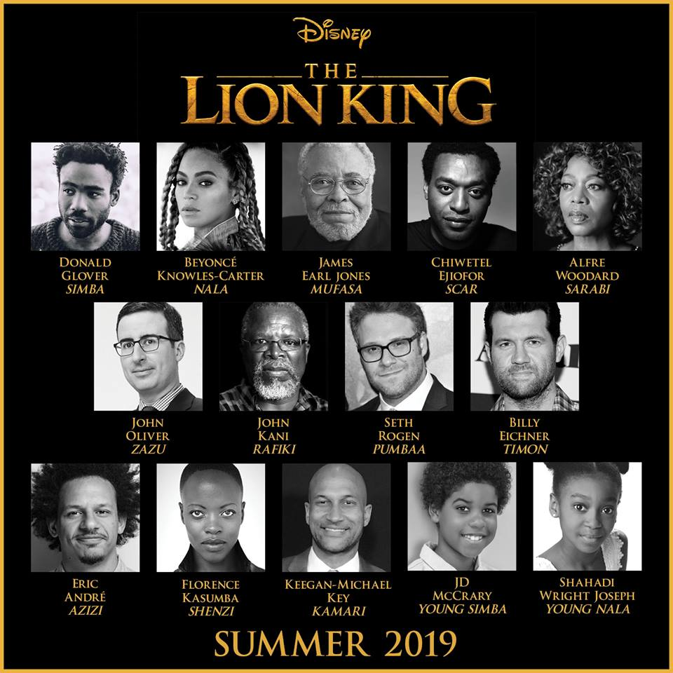 Jon Favreau's All-New Big-Screen Adventure THE LION KING Roars To Life With All-Star Cast