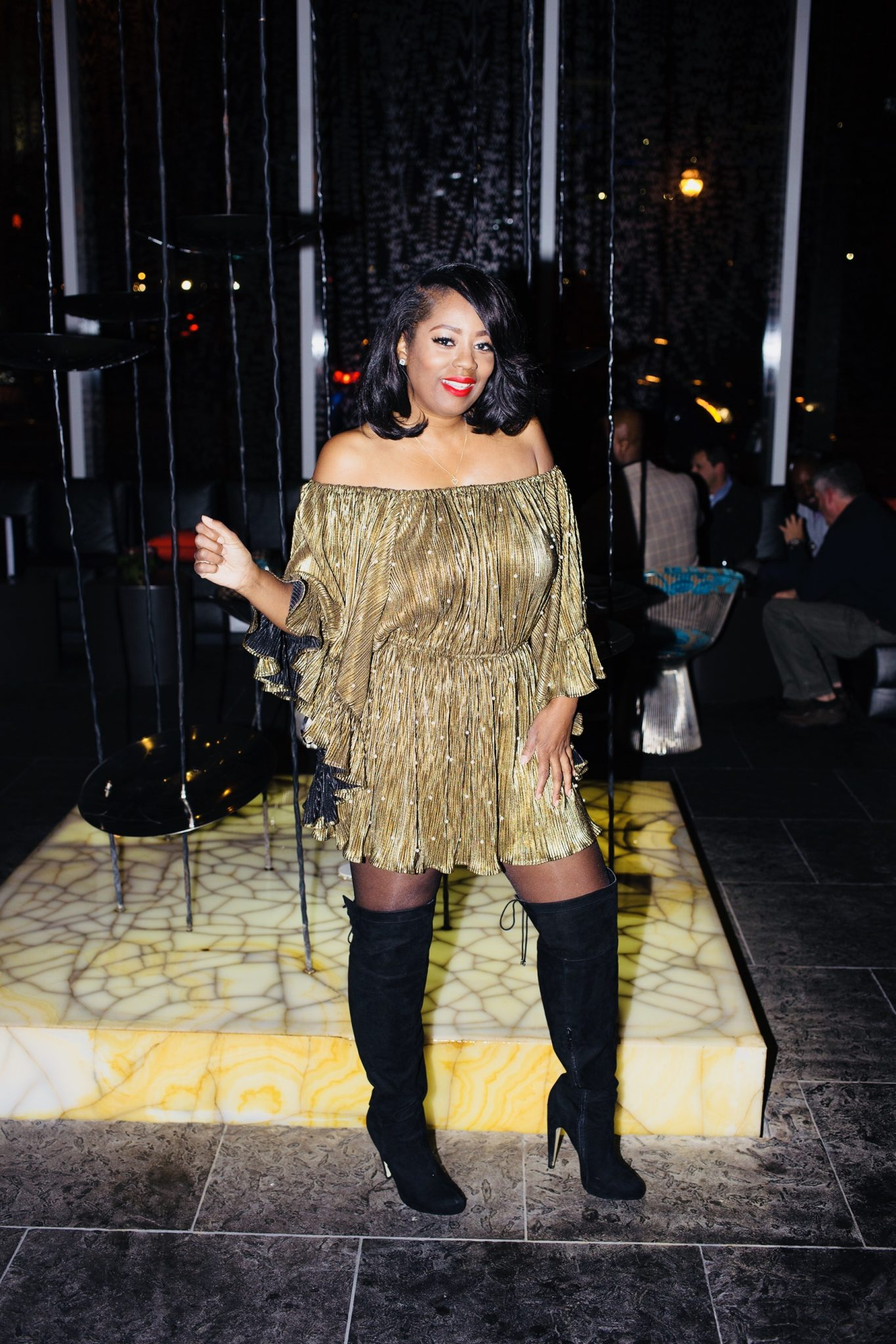 My Style: Why Dress Apparel Gold Frilly Romper