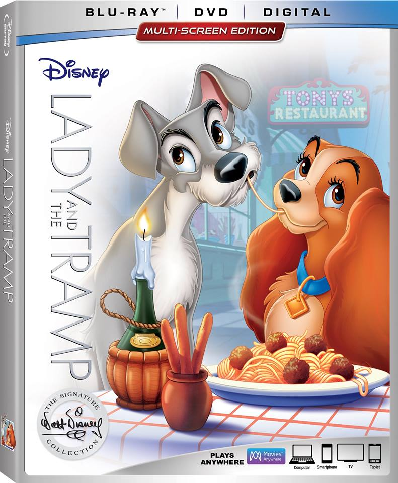 Lady And The Tramp Available Now On Blu-Ray