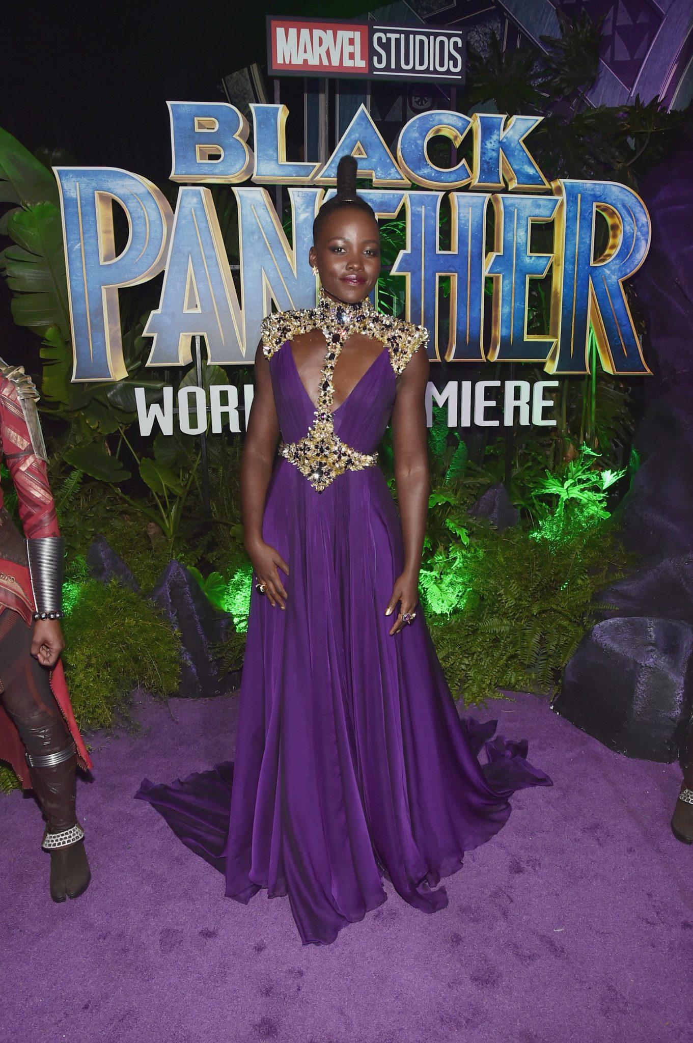 Wardrobe Breakdown: Lupita Nyong'o At Black Panther Hollywood Premiere