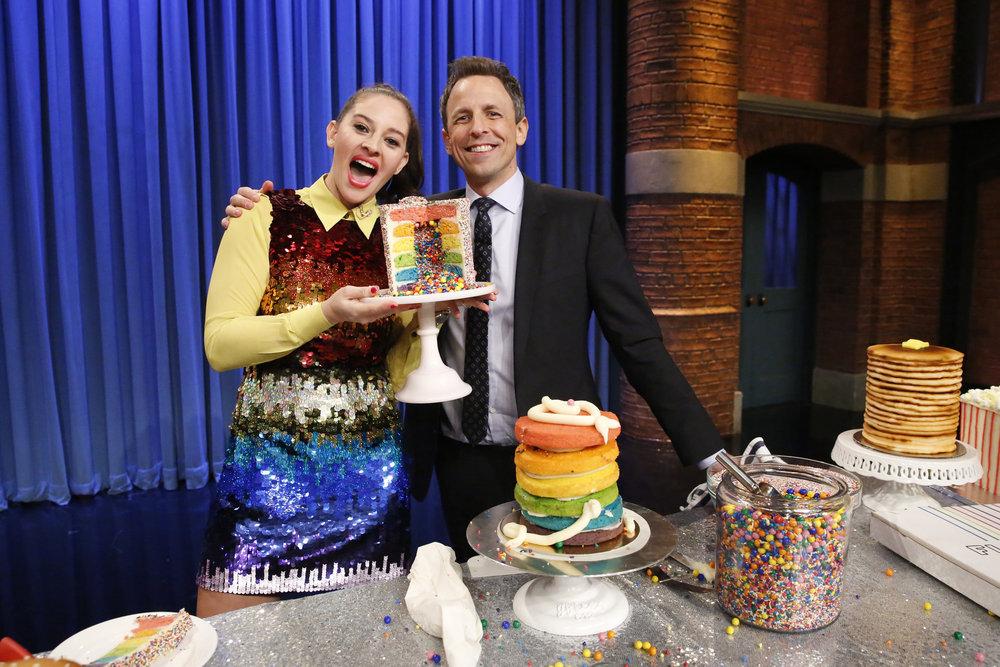 Amirah Kassem and Seth Make a Rainbow Explosion Cake