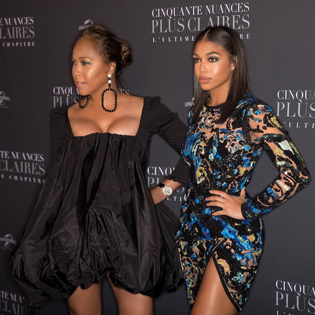 Wardrobe Breakdown: Marjorie and Lori Harvey At Fifty Shades Freed Premiere In Paris