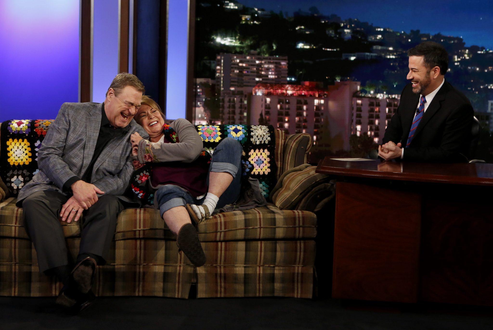 In Case You Missed It: Roseanne Barr & John Goodman On Jimmy Kimmel Live