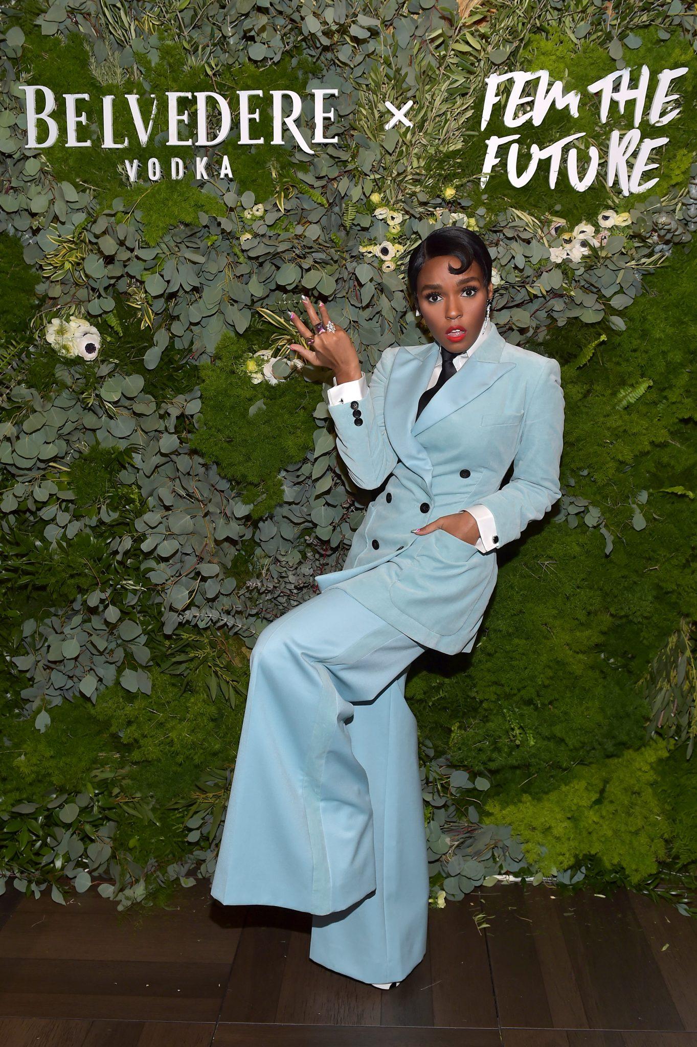 Wardrobe Breakdown: Janelle Monae At Fem the Future Brunch