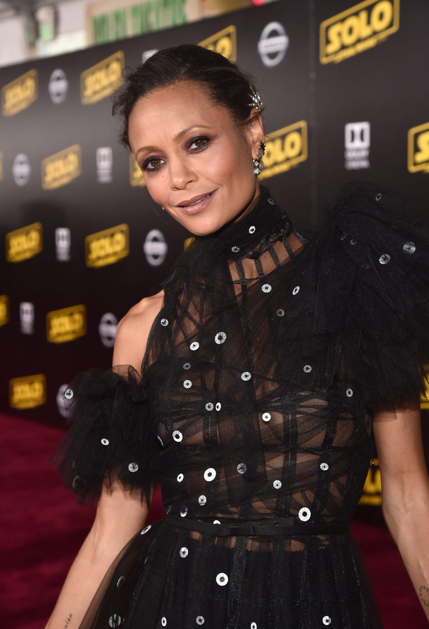 Wardrobe Breakdown: Thandie Newton At Solo A Star Wars Story World Premiere